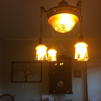 Czech carnival glass chandelier - Lamps