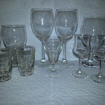 Assorted Vintage Barware Glasses