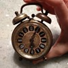 Vintage West Germany wind up clock