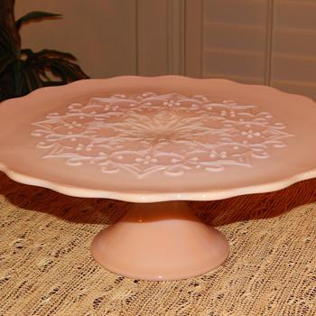 Fenton Spanish Lace Cake Stand - Glassware