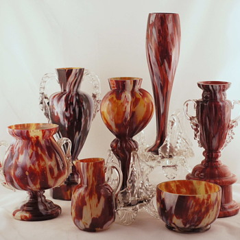 Oxblood Spatters - How Many Companies Do We Think Made One?? - Art Glass