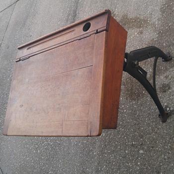 Old vintage school desk