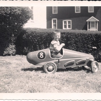 Hand-built racer from 1957 (looks like parts from a Triang racer) - Toys