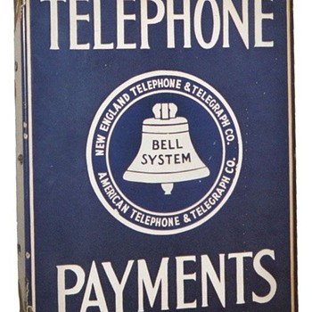 Telephone Payments Sign Blue Logo - Signs