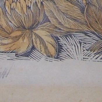WW1- Germany Area Woodblock Flower Prints From Estate  - Fine Art