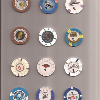 Casino chip and token lots