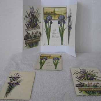 100 year old hand made postcards