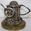 UNIQUE (one-of-a-kind) 1800's Mechanical Masonic (?) Steampunk (!) Inkwell