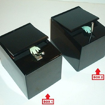 LITTLE BLACK BOX by Poynter Products, Inc., 1959 - 2 Toggle Lever Versions - Toys