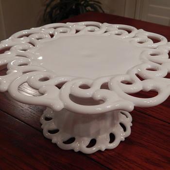 Fostoria cake stand - Glassware