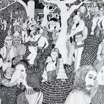 Berkeley 1971 - pen & ink drawing - Jericho Ann Poppler