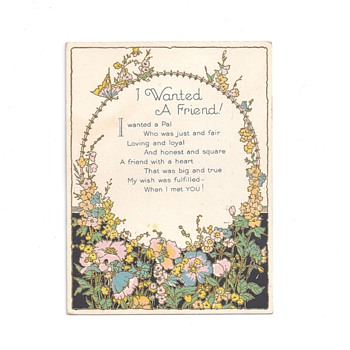 Friendship Card for Valentine's Day - Paper