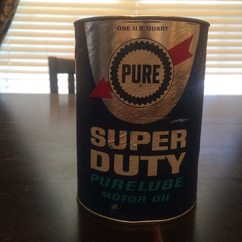 Pure oil cardboard oil can - Petroliana