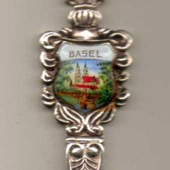 "Souvenir Spoon - ""Basel"" (Switzerland) - Advertising"