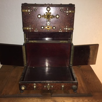Beautiful Old Wooden Box, Maybe a Jewelry Box?  - Fine Jewelry