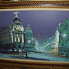 madrid gran via oil painting,   ANY INFO ON WHO ARTIST IS thanks