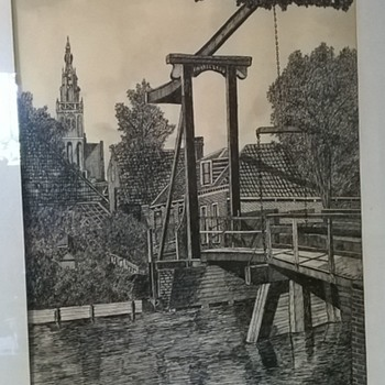 Original Pen & Ink Drawing #3, Thrift Shop Find $1.00 - Fine Art