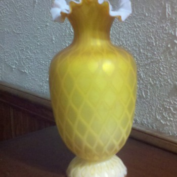 elegant velvet glass vase - Art Glass