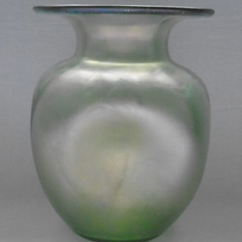 Art Nouveau Green Glass Vases......Loetz  - Art Glass