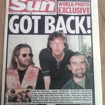 "Sun Newspaper-Oct.3,1995...""GOT  BACK!"" - Music Memorabilia"