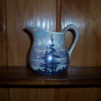 Weller Queen Pottery Art Wagner signed small pitcher - Pottery