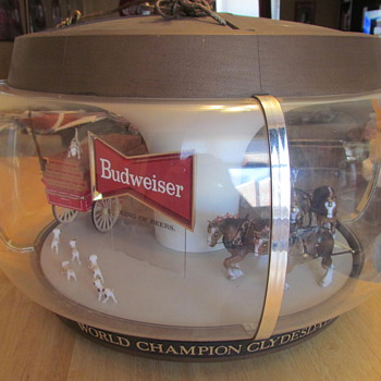 1960's Budweiser Original Clydesdales Carousel Light - Breweriana