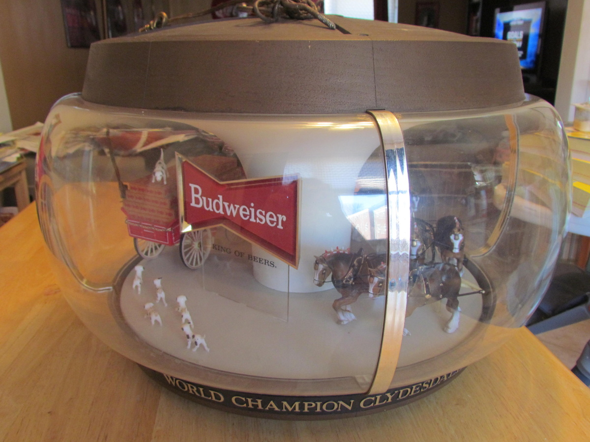 1960 S Budweiser Original Clydesdales Carousel Light