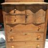 Serpintine style solid oak dresser