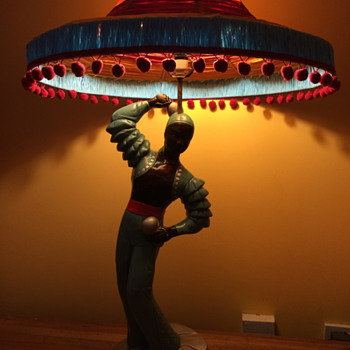 Spanish Flamenco Dancer with Maracas Table Lamp - Lamps
