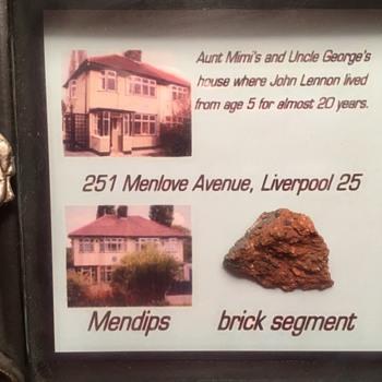 "John Lennon- ""Mendips"" brick piece. - Music Memorabilia"