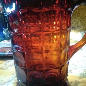 amberina pitcher - Glassware