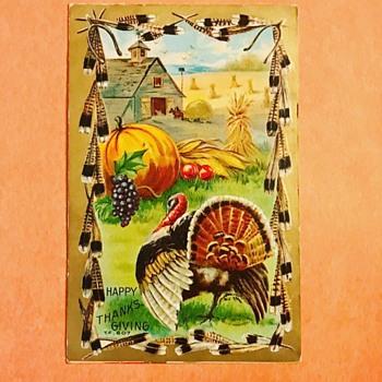 Vintage Thanksgiving Postcard - Postcards