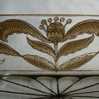 Herman Pautsch glass tray schwartzlot and gold  - Art Glass