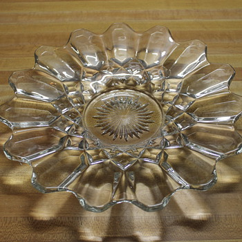Crystal Flower Shaped Plate - Glassware