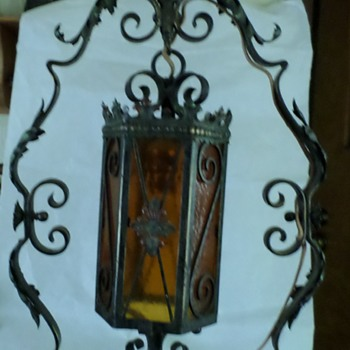 Ornate Iron Floor Lamp - Lamps