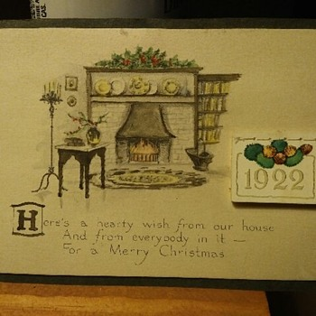 1922 Postcard Christmas Calender - Postcards