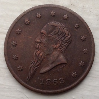 1863 Civil War token - Military and Wartime