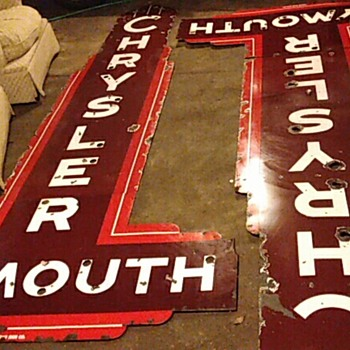 dealership porcelain vintage signs - Signs