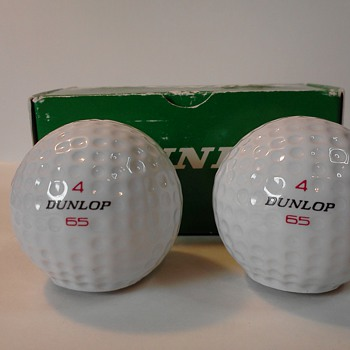 When is a golf ball not a golf ball?  When they are Dunlop 65 salt and pepper shakers