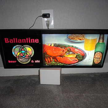 Ballantine Beer & Ale Lighted Sign