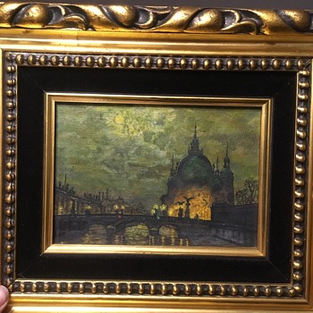 Painting in Dresden Germany at Night - Fine Art