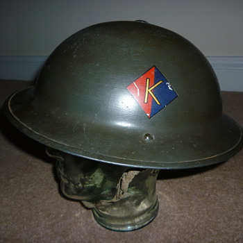 WW11 Royal Artillery steel helmet