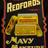 REDFORD'S NAVY MIXTURE VINTAGE ADVERTISING SIGN