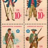 """1975 - """"Continental Military Uniforms"""" Postage Stamps (US)"""