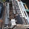 a HAMMOND electric organ comes apart...