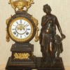 "Ansonia's ""Poetry"" Figural Mantel Clock"