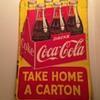 1950's Canadian Tin Coca-Cola Sign