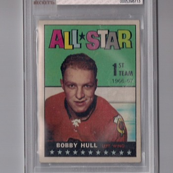 Old School Hockey Player Bobby Hull