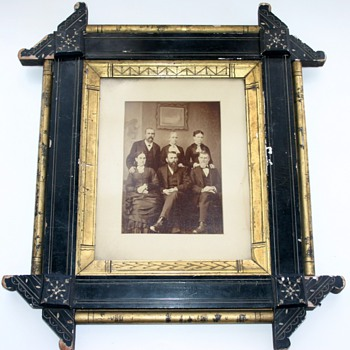19th Century Victorian Eastlake Ebonized Gilt Aesthetic Movement Picture Frame - Photographs