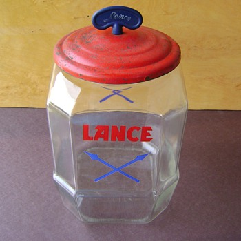 Lance Two Gallon General Store Counter  Jar - Advertising